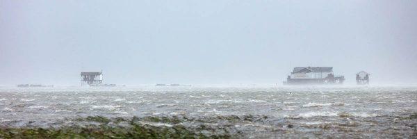 Überfluteter Stand von St Peter Böhl - Seekiste SPO