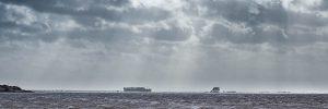 Überfluteter Strand vor St Peter-Ording