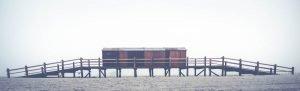 Bootshaus am Strand von St Peter-Ording
