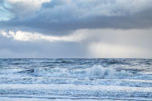 Brandung auf der Nordsee - Sturmtief Egon