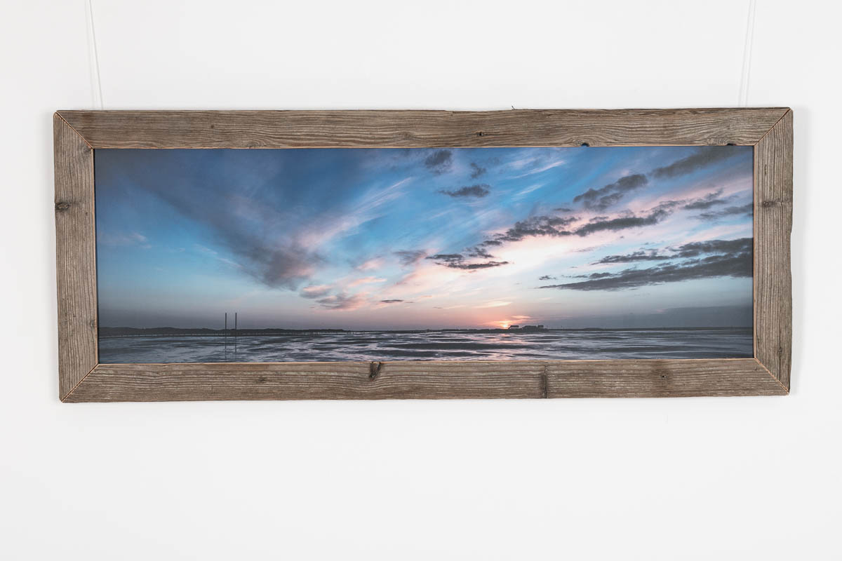 sonnenuntergang am strand von st peter ording strandeins. Black Bedroom Furniture Sets. Home Design Ideas