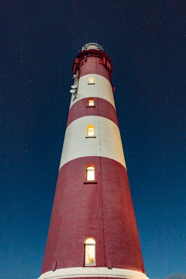 Nachtaufnahme vom Leuchtturm Amrum