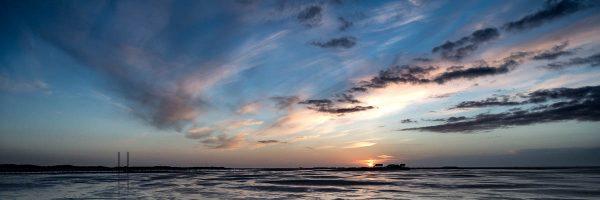 Sonnenuntergang am Strand von St Peter-Ording