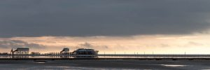 Wetterkant über der Strandbar 54 Grad Nord in St Peter-Ording