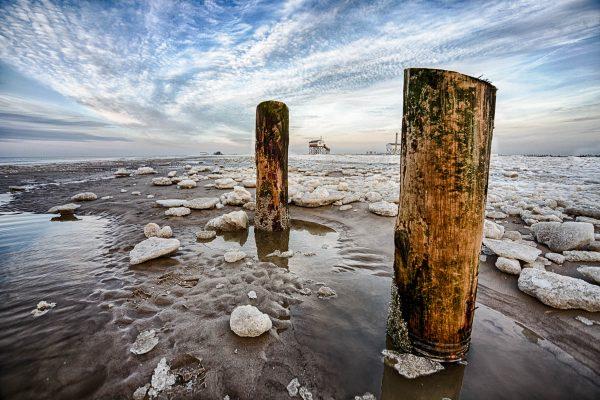 Winterlandschaft am Ordinger Strand
