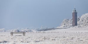 Winterlandschaft am Böhler Leuchtturm in SPO