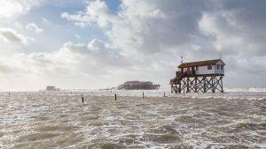 Sturmflut am Strand von St Peter-Ording
