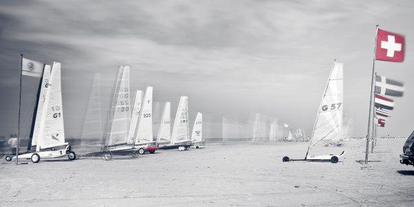 Segelwagen am Strand von St Peter-Ording