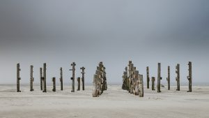 Strandkorbpodest in St Peter-Ording