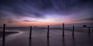 Abenddämmerung am Strand von Sankt Peter Ording