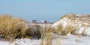 Winterlandschaft am Strand von St Peter-Ording