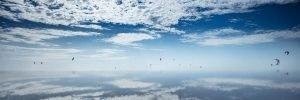 Kiter am Himmel