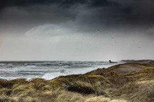 Nordsee-Brandung vor Agger bei Unwetter (DK)