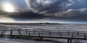 Wolkenformation über der Sandbank von SPO