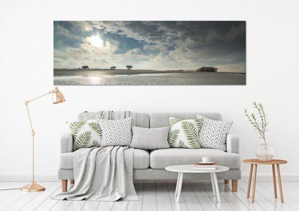 Landschaftsfoto an der Wand - Sonnenschein über der Strandbar 54