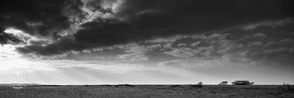 Wolkenspiel über der Salzwiese in St Peter Süd