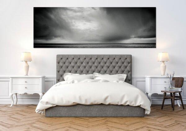 Landschaftsfoto in schwarz weiss Westerheversand - Sandbank No. XII