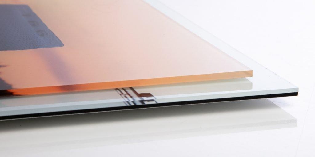 Foto hinter Acrylglas
