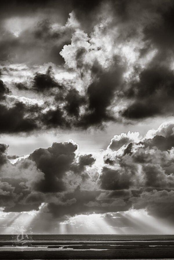 Tümlauer Koog Wolken über der Nordsee No. IV